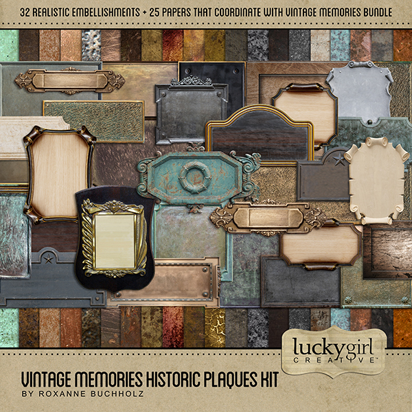 Vintage Memories Historic Plaques Kit