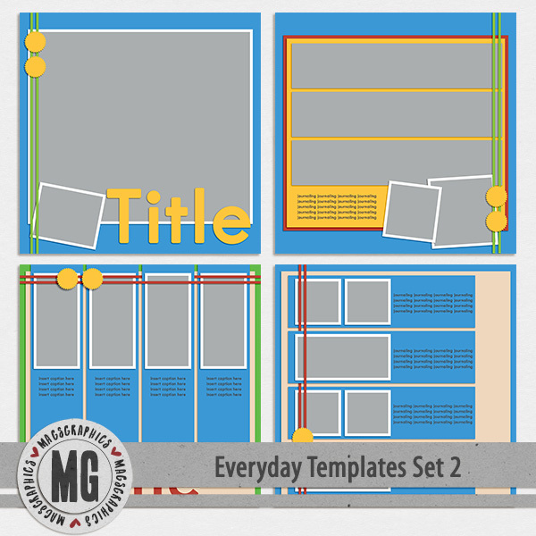 Everyday Templates Set 2