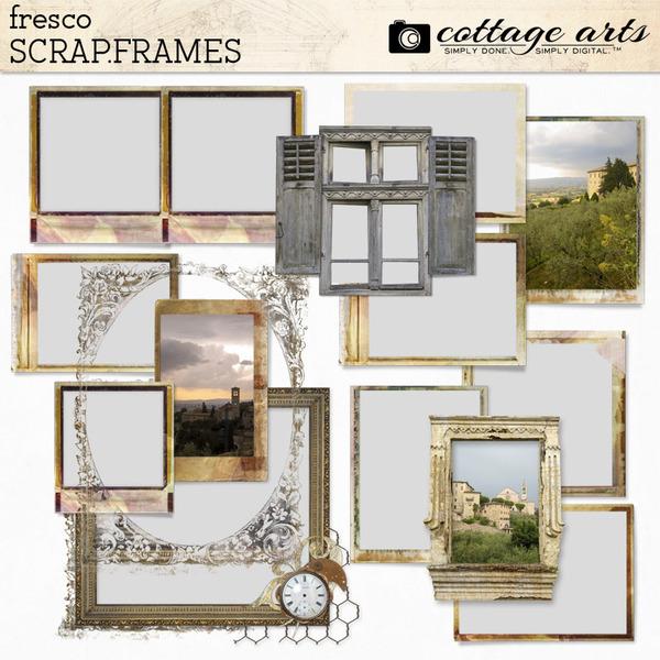 Fresco Scrap.Frames Digital Art - Digital Scrapbooking Kits