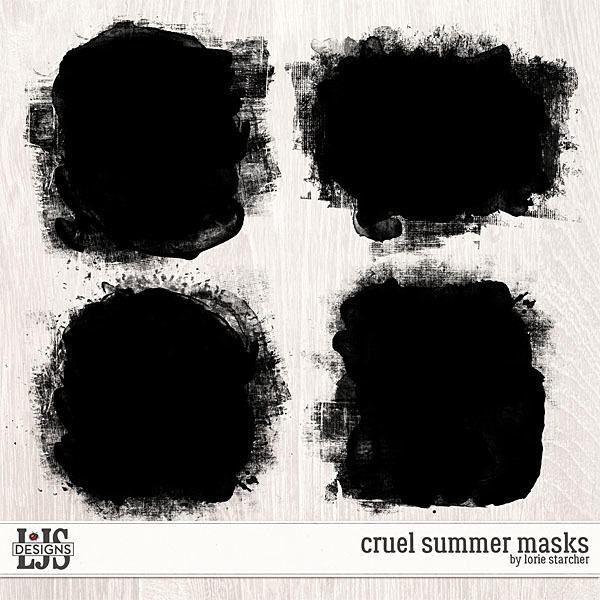 Cruel Summer Masks Digital Art - Digital Scrapbooking Kits