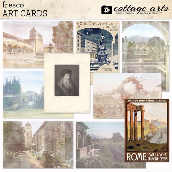 Fresco Art Cards Digital Art - Digital Scrapbooking Kits