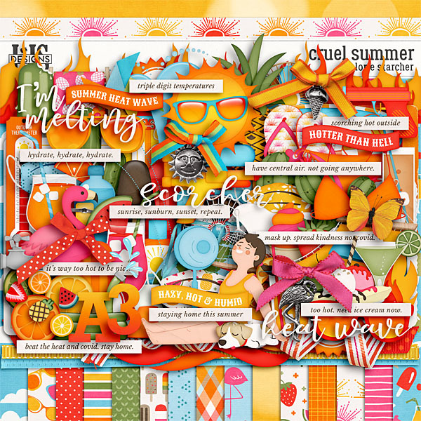 Cruel Summer Digital Art - Digital Scrapbooking Kits