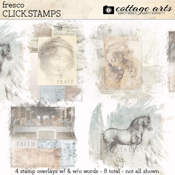 Fresco Click.Stamps Digital Art - Digital Scrapbooking Kits