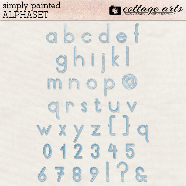 Simply Painted AlphaSet Digital Art - Digital Scrapbooking Kits