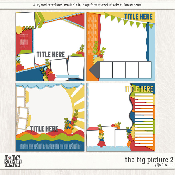 The Big Picture 2 Digital Art - Digital Scrapbooking Kits