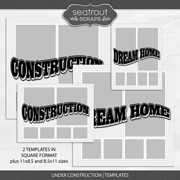 Under Construction - Templates Digital Art - Digital Scrapbooking Kits
