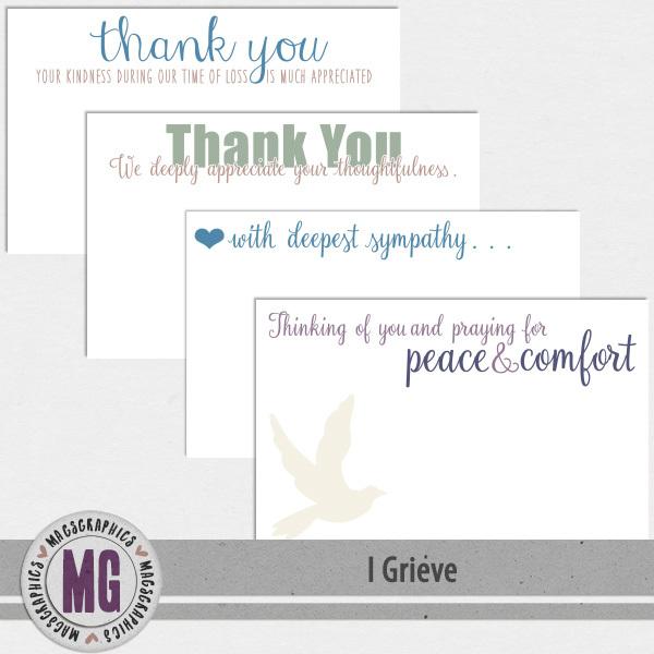 I Grieve Note Cards Digital Art - Digital Scrapbooking Kits