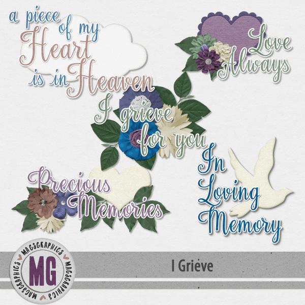 I Grieve Word Art Digital Art - Digital Scrapbooking Kits
