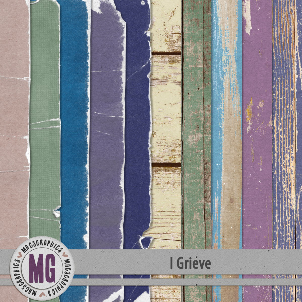 I Grieve Specialty Papers Digital Art - Digital Scrapbooking Kits