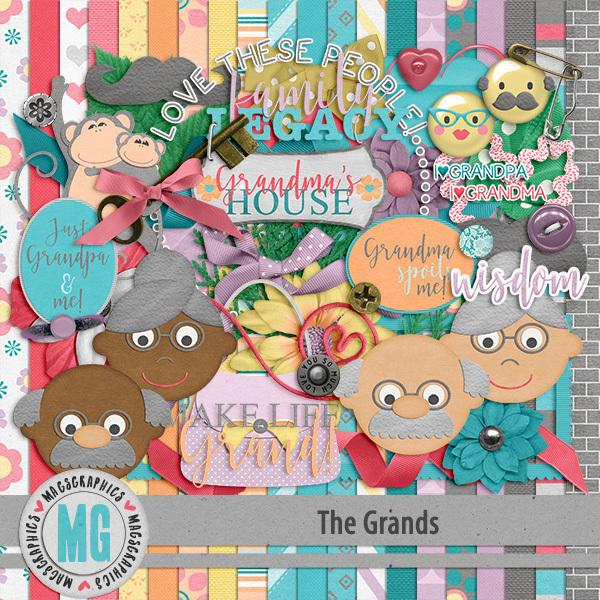 The Grands Kit Digital Art - Digital Scrapbooking Kits