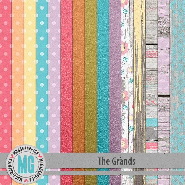 The Grands Specialty Papers Digital Art - Digital Scrapbooking Kits