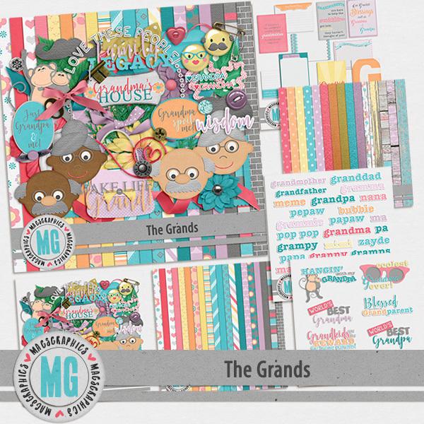 The Grands Bundle Digital Art - Digital Scrapbooking Kits