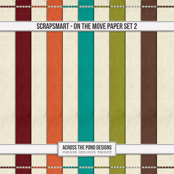 ScrapSmart - On The Move - Paper Set 2 Digital Art - Digital Scrapbooking Kits