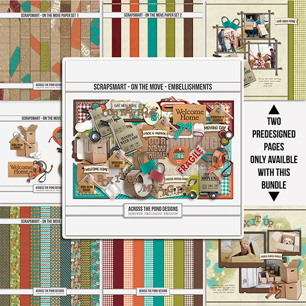 ScrapSmart - On The Move - Bundle Digital Art - Digital Scrapbooking Kits