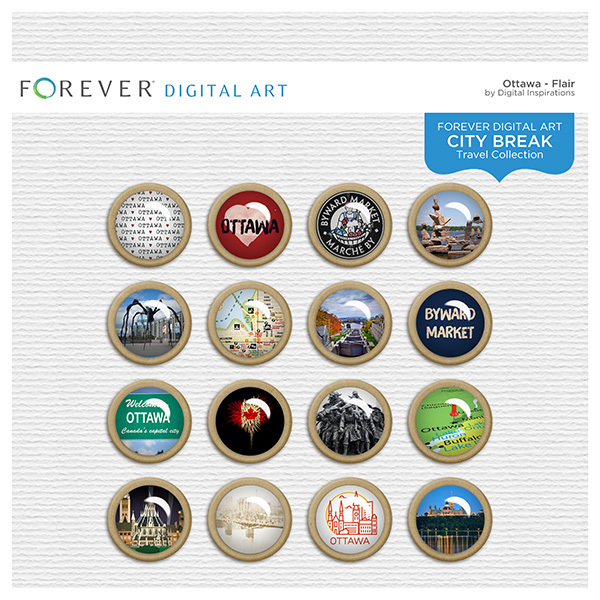 City Break - Ottawa - Flair Digital Art - Digital Scrapbooking Kits