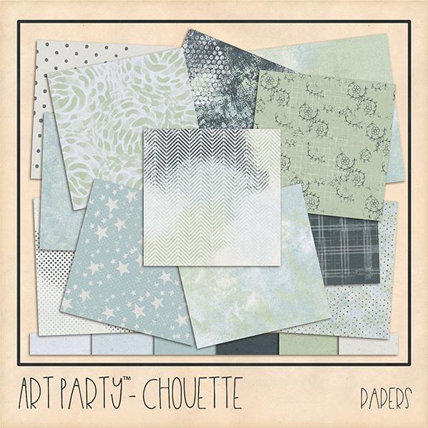 Chouette Papers Digital Art - Digital Scrapbooking Kits