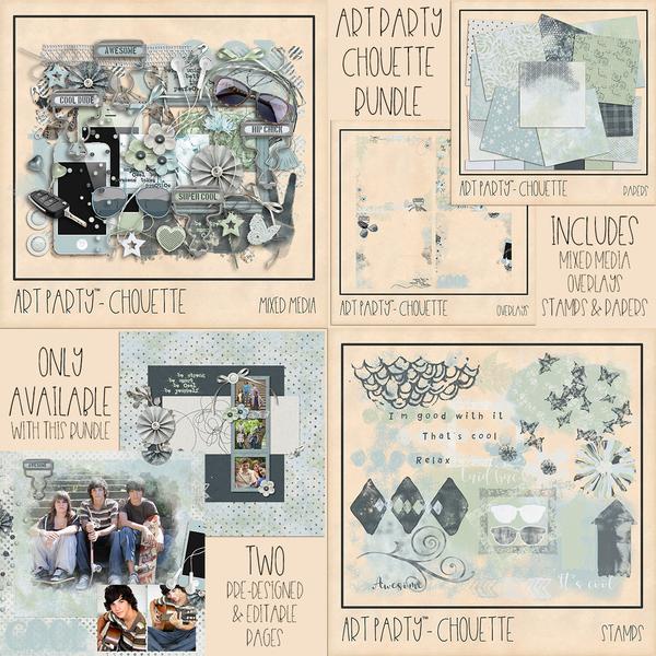 Chouette Complete Collection Digital Art - Digital Scrapbooking Kits