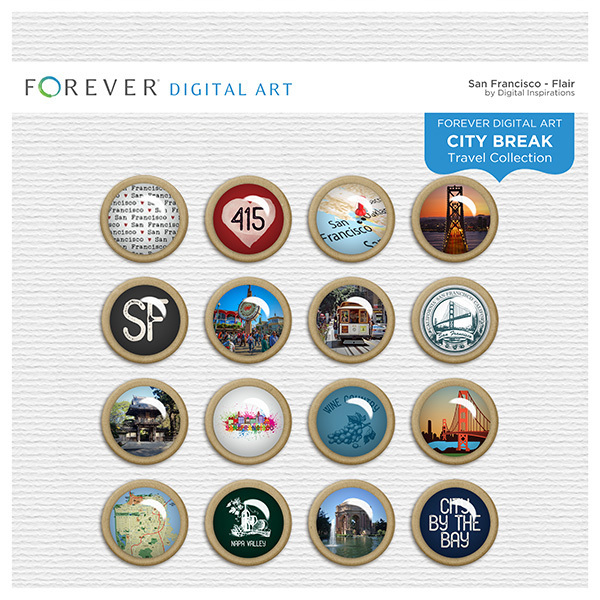 City Break - San Francisco - Flair Digital Art - Digital Scrapbooking Kits