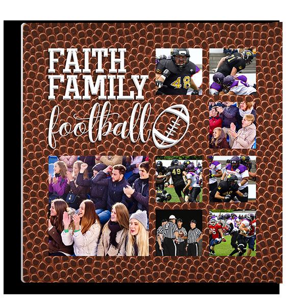 Faith Family Football Panel Panel