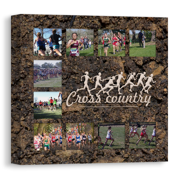 Cross Country Running Canvas Canvas