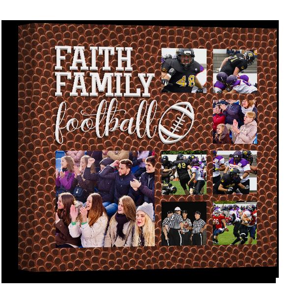 Faith Family Football Canvas Canvas