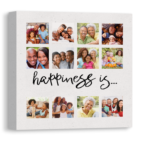 Happiness Is Canvas Canvas