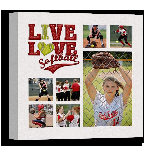 Live Love Softball Canvas Canvas