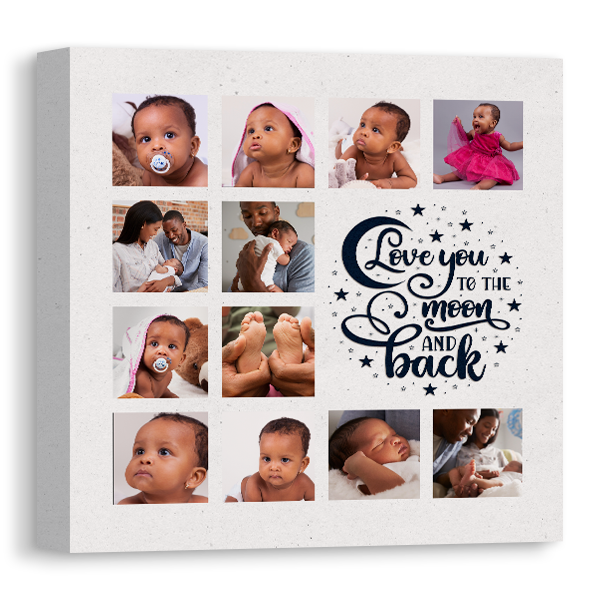 Moon and Back Canvas Canvas