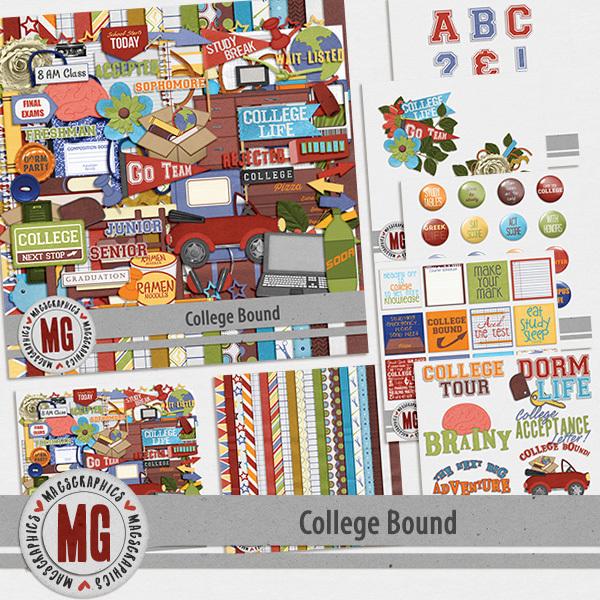 College Bound Bundle Digital Art - Digital Scrapbooking Kits