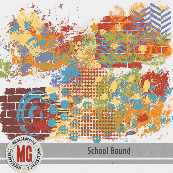 School Bound Hodge Podge Masks Digital Art - Digital Scrapbooking Kits