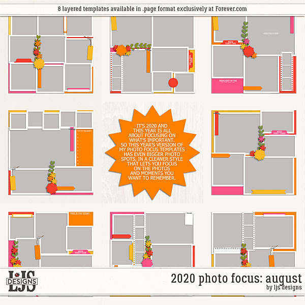 2020 Photo Focus - August Digital Art - Digital Scrapbooking Kits