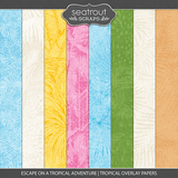 Escape on a Tropical Adventure - Tropical Overlay Papers