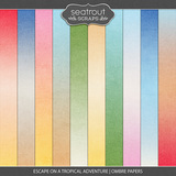 Escape on a Tropical Adventure - Ombre Papers