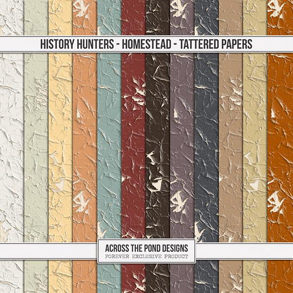 History Hunters - Homestead - Tattered Papers Digital Art - Digital Scrapbooking Kits