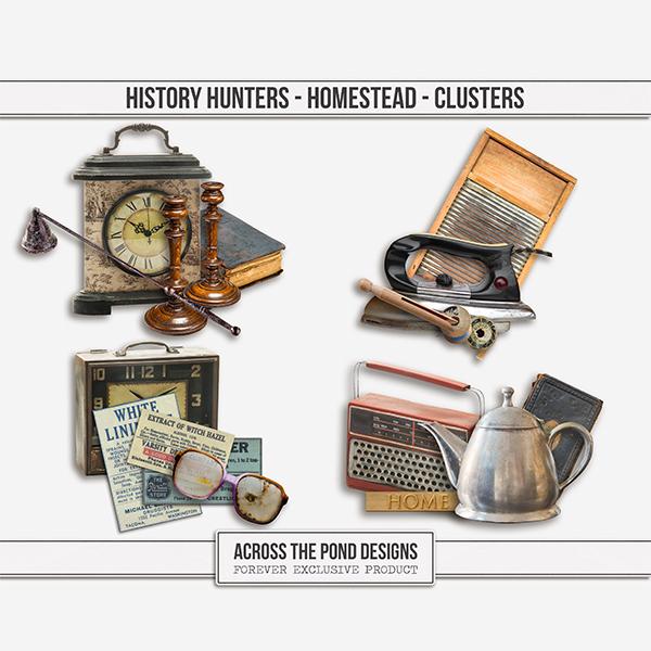 History Hunters - Homestead - Clusters Digital Art - Digital Scrapbooking Kits
