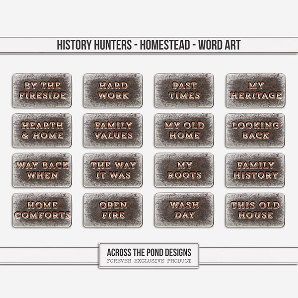 History Hunters - Homestead - Word Art