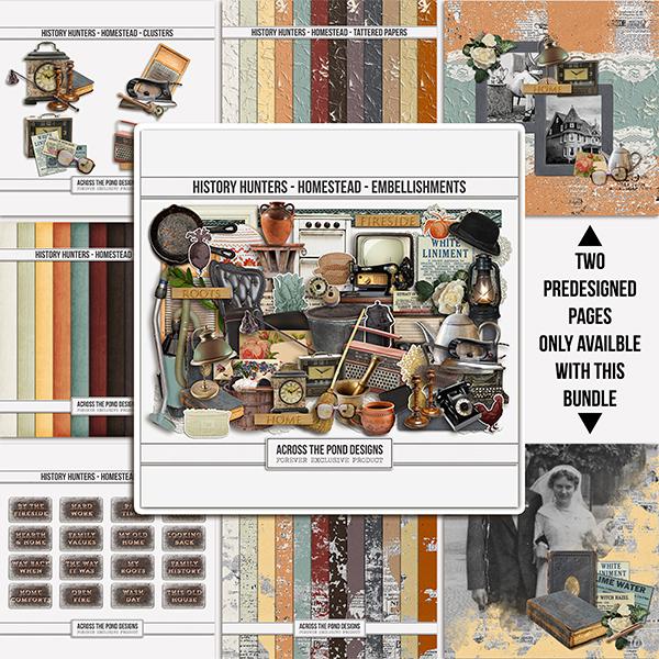 History Hunters - Homestead - Bundle Digital Art - Digital Scrapbooking Kits