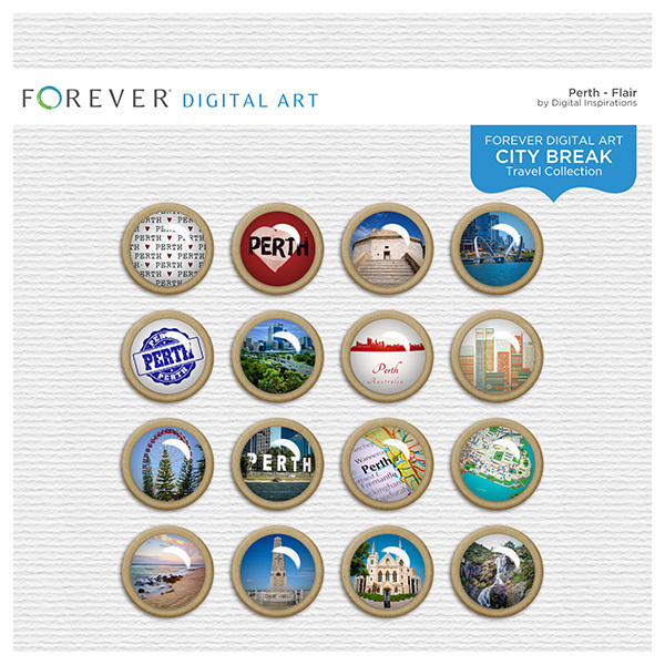 City Break - Perth - Flair Digital Art - Digital Scrapbooking Kits