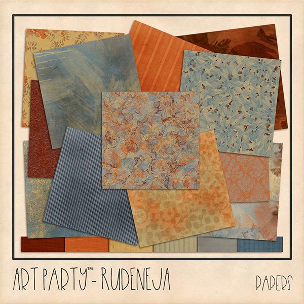Rudeneja Papers Digital Art - Digital Scrapbooking Kits