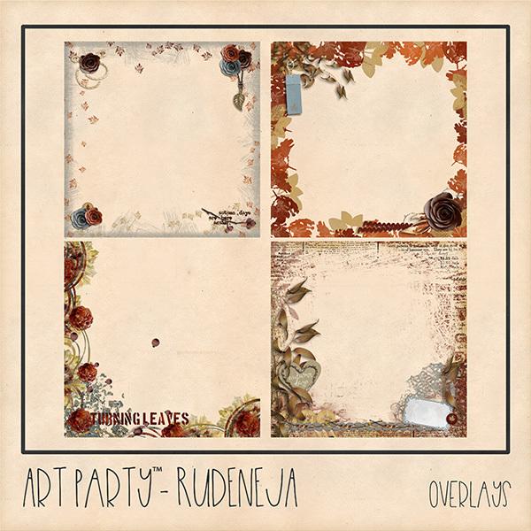 Rudeneja Overlays Digital Art - Digital Scrapbooking Kits