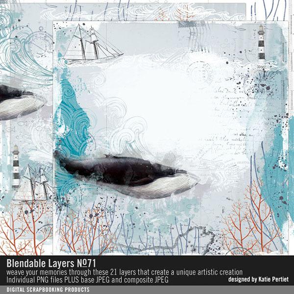 Blendable Layers 71 Digital Art - Digital Scrapbooking Kits