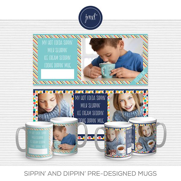 Sippin and Dippin Pre-Designed Mugs Digital Art - Digital Scrapbooking Kits