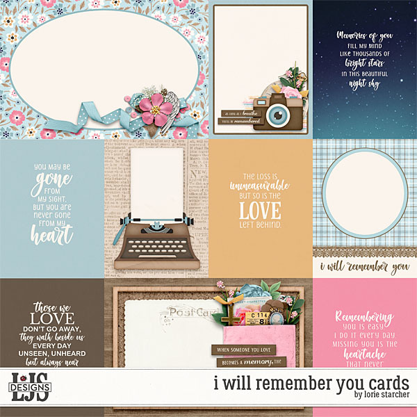 I Will Remember You Cards Digital Art - Digital Scrapbooking Kits