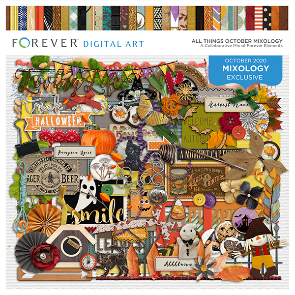 All Things October Mixology Digital Art - Digital Scrapbooking Kits