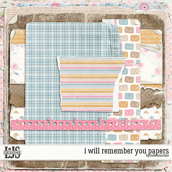 I Will Remember You Papers Digital Art - Digital Scrapbooking Kits