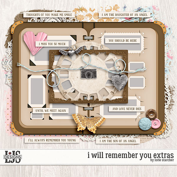 I Will Remember You Extras Digital Art - Digital Scrapbooking Kits