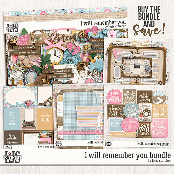 I Will Remember You Bundle Digital Art - Digital Scrapbooking Kits
