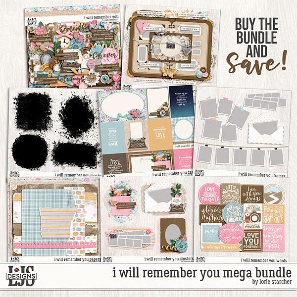 I Will Remember You Mega Bundle Digital Art - Digital Scrapbooking Kits