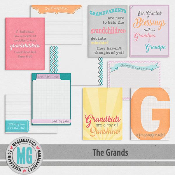 The Grands Journal Cards Digital Art - Digital Scrapbooking Kits