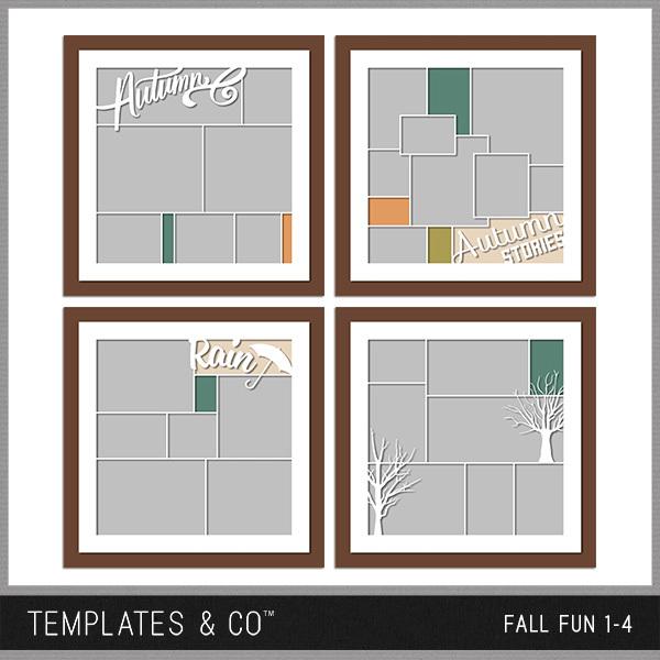 Fall Fun 1-4 Digital Art - Digital Scrapbooking Kits